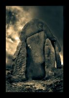 Trethevy Quoit by struckdumb
