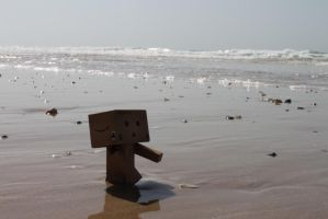 oh no danbo in water by BehrSebastian