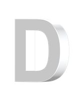 letter D 3D by billypic