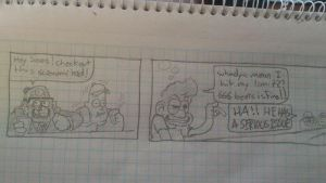 My up coming scene in episode 9 of Gravity falls by Chongothedrawfriend