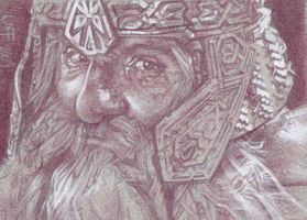 Gimli Sketch Card by JeffLafferty