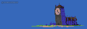 353/365 : pixel art : Clocktower by igorsandman