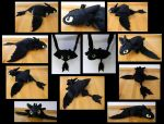 Night Fury Pillow Pet by SarityCreations