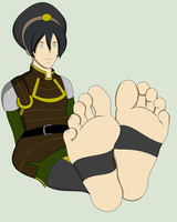 Toph Bei Fong soles by mrff25