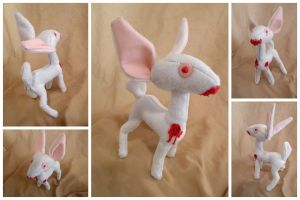 Albino Zombie Deer Plush by IckyDog