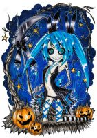 Miku Hatsune - Blue Halloween by nei-no