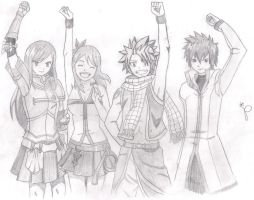 fairy tail's strongest team 1 by doodlingsketch