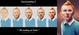 the making of Tintin~~~ by MaurenEncepz
