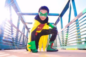 Robin: Super Hero Pose by FloresFabrications