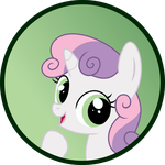Sweetie Belle Button by MLP-Scribbles