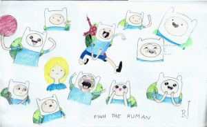 Finn The Human (Color Pencil) by TheR-tist