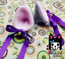 WOLF EARS HAIR CLIPS by akirepower