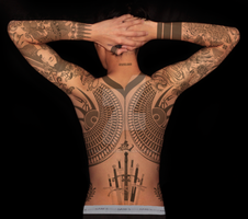 Tattoos back by DistinctRebel