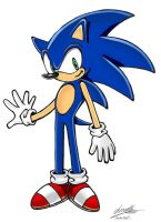 SA style sonic by sonicwindartist