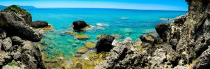 Rocky Beach Panorama by Maltese-Naturalist