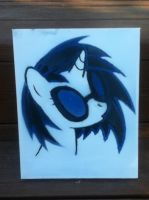 Vinyl Scratch Spray Paint by drewq123