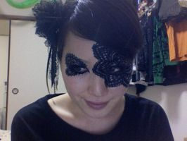lace face paint by APPLEmily