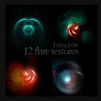100x100 Flare Textures by monstreum