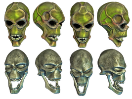 Fantasy Skulls by Roys-Art