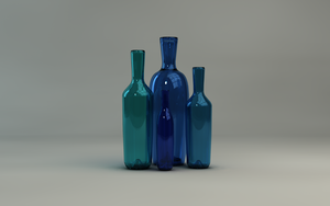 Realistic Glass Bottles by rasiquiz