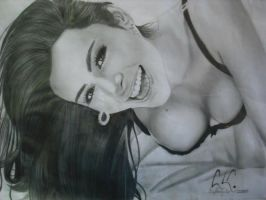 Larissa Riquelme Realist Drawing by CrystianKisler