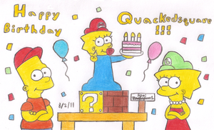 Happy BDay Quackedsquare by MarioSimpson1