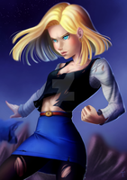 Android 18 by feh-rodrigues