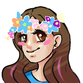 Pixel Icon - flower crowns by Uber-Mouse