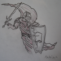crimson knight pencil by xabian