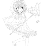 Cardcaptor Sakura :Lineart: by Trinity-In-Rainbows