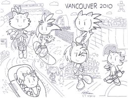 Team Sonic at the Winter Games by pikaplusmin