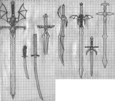 Custom Swords by Blackfire-Dragon