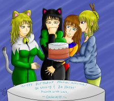 Happy Birthday Haruhi Atsume (Lots of Feels) by Lady-of-Mud