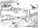 Late Cretaceous East Africa by DaBrandonSphere