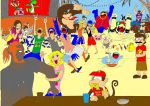 SSBB Beach Party - Colored by DaVonteWagner