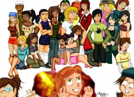 Total Drama Island Anime Style by blwhere