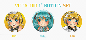 Button Set - VOCALOID by Pikakus