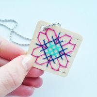 Cute cross stitch pendant by xmy-craftsx