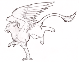 Out of the way, gryphon coming through by Lucieniibi