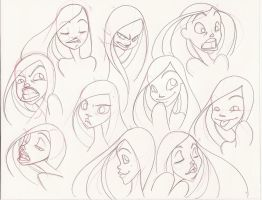 10 Facial Expressions : Sketch by PinkPigtails