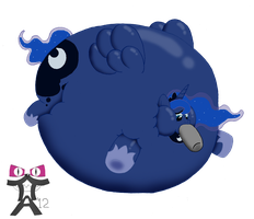 Princess Luna The Nightmare Night Blimp! by ToferTheAkita