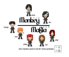 Monkey Mafia: pixels and logos by dementedmonkey