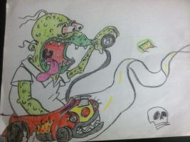 homer rat fink by sideshowricky