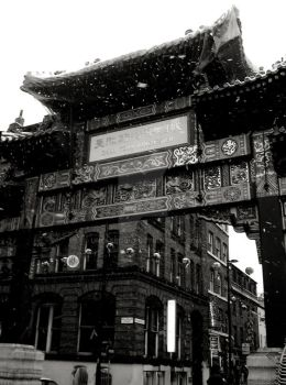 China Town Gate in the Snow by UncleBob47