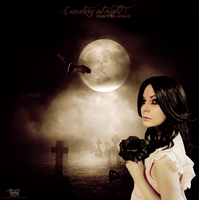 Cemetery at Night Don't Be Afraid by Dyn by SpaceDynArtwork