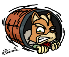 Fox's Barrel Roll by Lwiis64