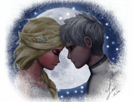 Jack Frost and Elsa by 531154865324