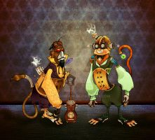 Paul 'n Storm Steampunk Monkey by JadeGordon