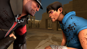 [SFM] (request) Outcast vs. Striker by Blood-Striker