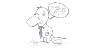 Platypus Wearing A Tie by Pip84